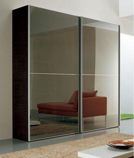 Современные зеркальные двери-купе