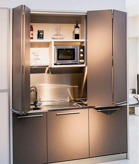 Складные двери на кухню