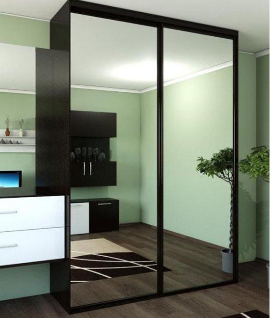 Зеркальные двери для шкафа-купе в гостиную