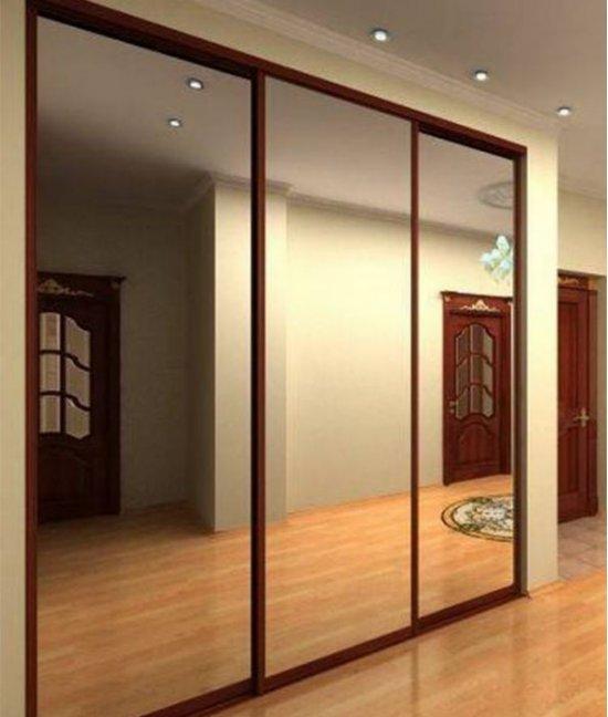 Три (3) зеркальные двери для шкафа-купе