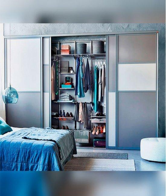 Гардеробные шкафы серый