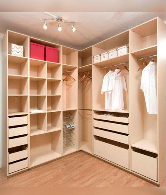 Шкафы без дверей для гардеробной