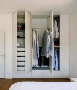 Шкаф гардеробная в нишу