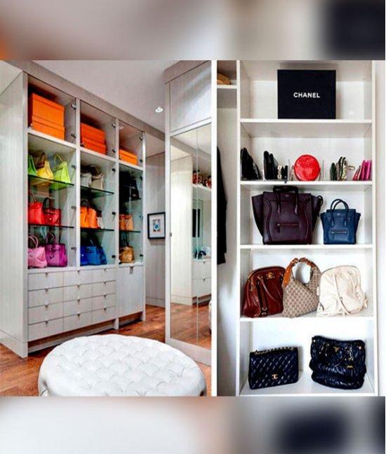 Гардеробные шкафы для сумок