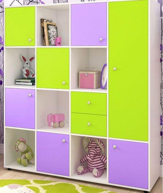 Шкаф сиреневый детский