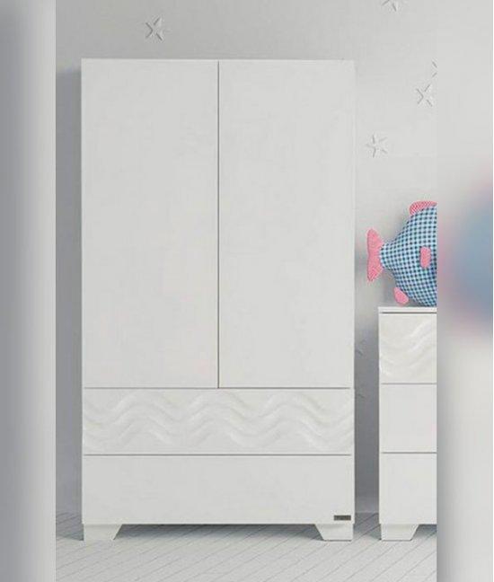 Детский белый шкаф для одежды