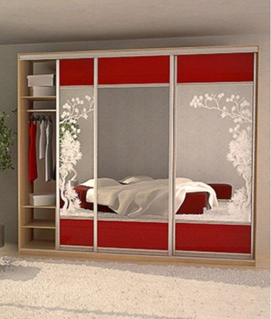 Шкаф детский красный