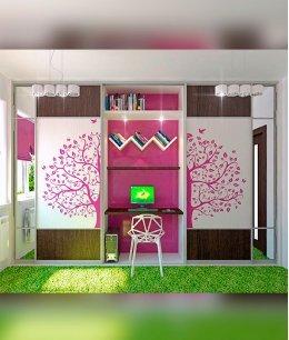Встроенный шкаф для двоих детей