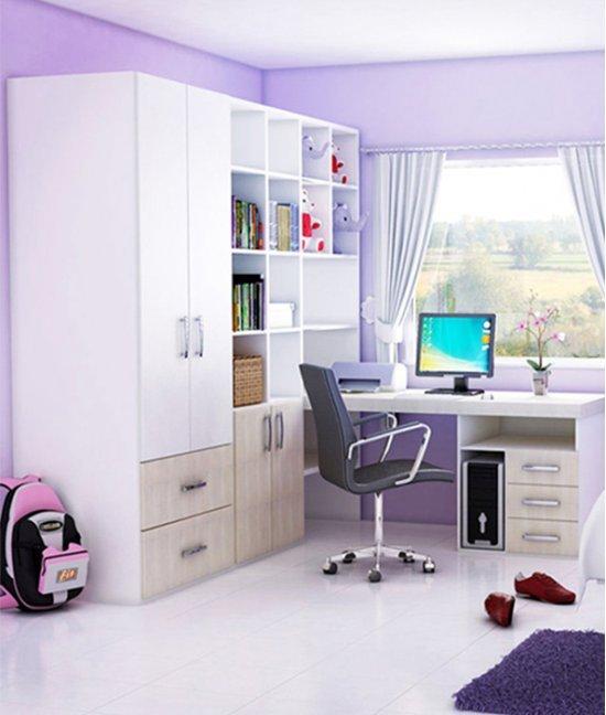 Книжный шкаф для девочки