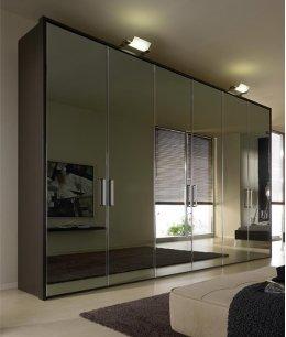 Безрамочные зеркальные шкафы купе