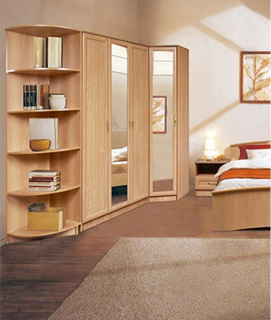 Корпусная мебель для спальни с угловым шкафом