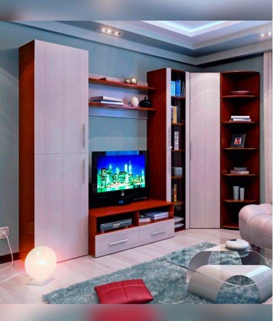 Корпусная мебель для гостиной с угловым шкафом