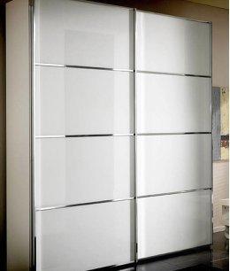 Шкаф купе белое матовое стекло