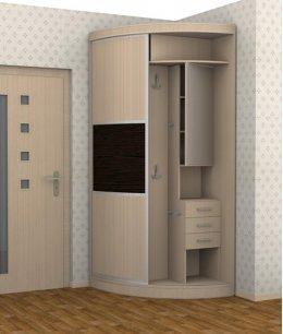 Угловой шкаф в прихожую 600х600 мм (60х60 см)
