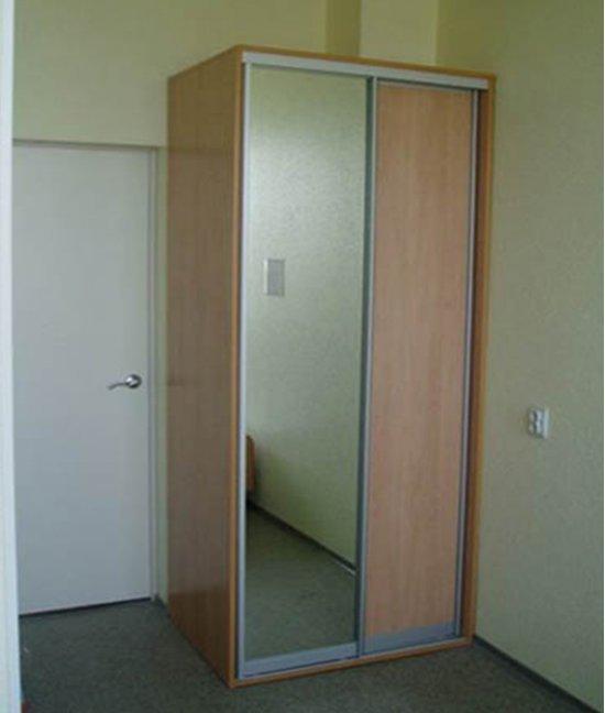 Белый шкаф купе 90 см (800 мм) шириной