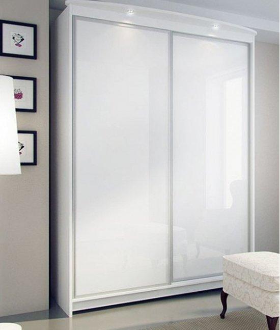 Белый шкаф купе лдсп глянец