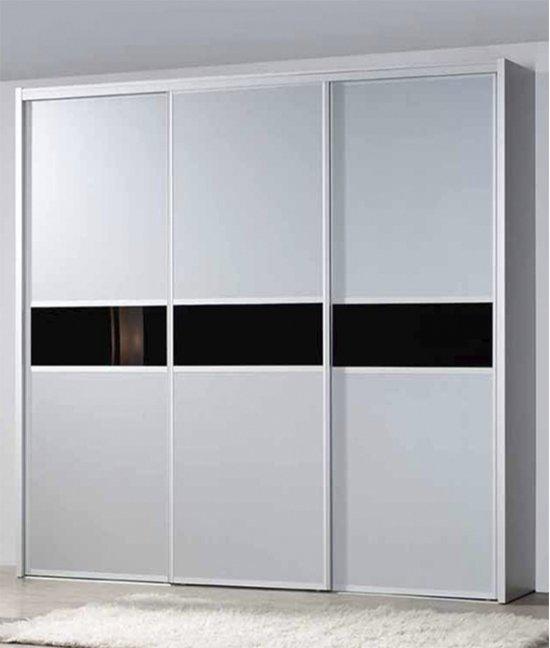 Шкаф купе белый глянец и венге