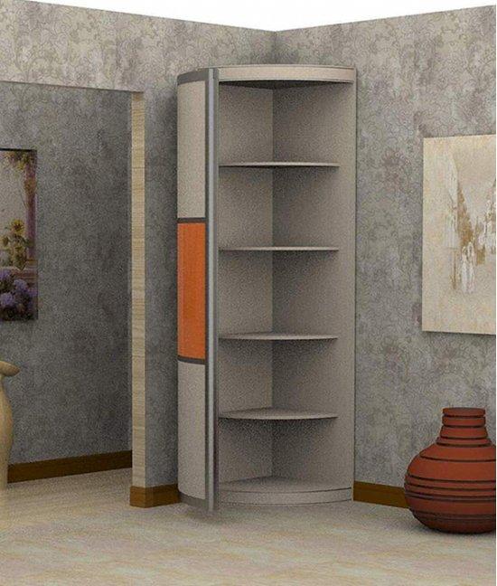 Узкий угловой шкаф в прихожую 600х600