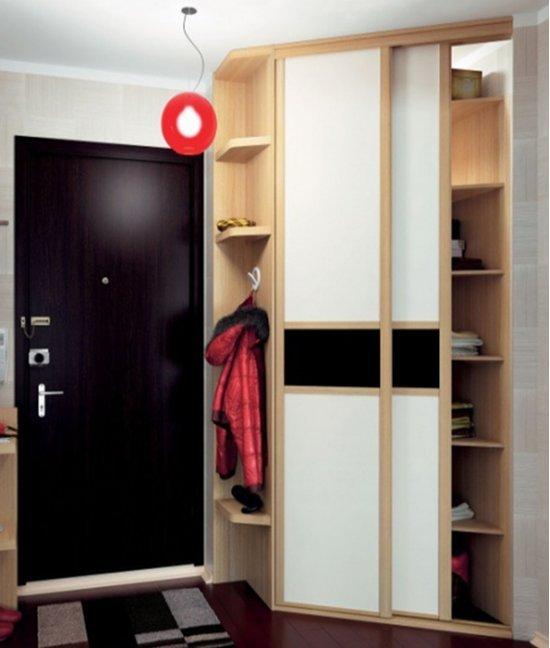 Узкий угловой шкаф в прихожую 60х60
