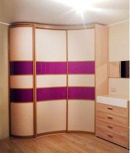 Радиусный шкаф волна