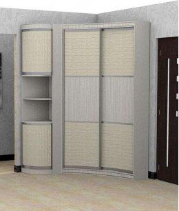 Угловой распашной шкаф с радиусной дверью