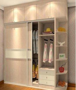 Встроенный шкаф купе с антресолью в спальню