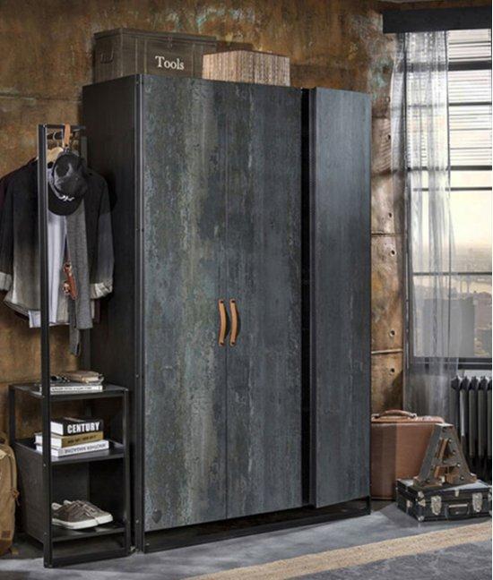 Шкаф 3 х дверный с ящиками лофт