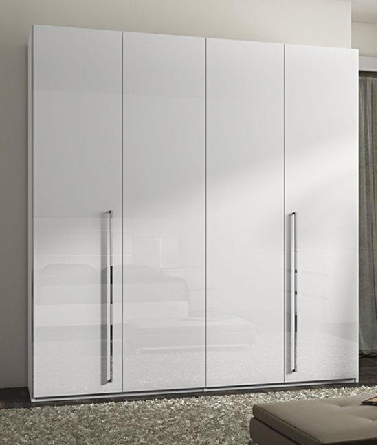 Шкаф белый распашной 4х дверный
