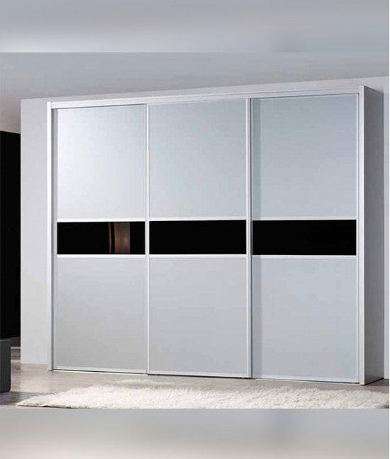 Шкаф купе белый с черными вставками