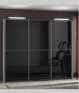 Шкаф купе черный глянец с зеркалом
