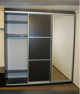 Встроенные шкафы купе венге