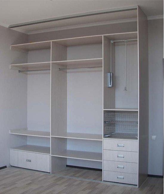 Шкаф купе без задней стенки встроенный